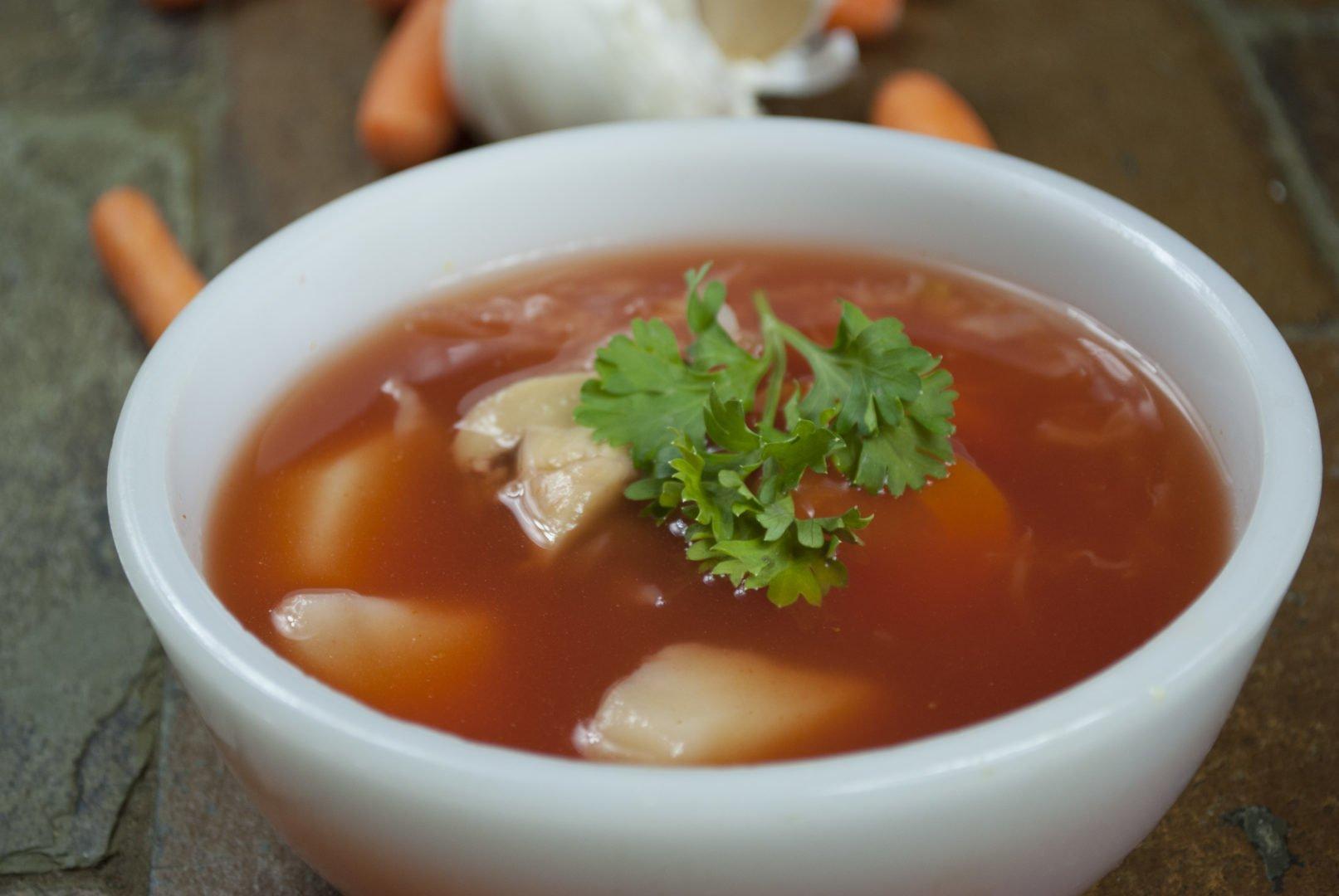 Soup - Mushroom Borscht - Borscht With Mushrooms And Cabbage
