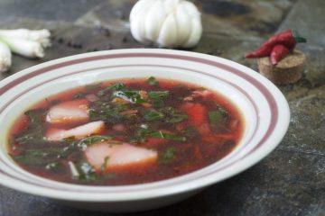 Soup - Borscht without beets - Spinach Borscht