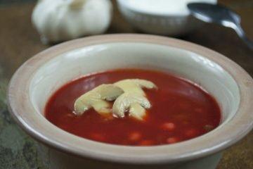Soup - Poultry Borscht - Borscht With Duck And Mushrooms
