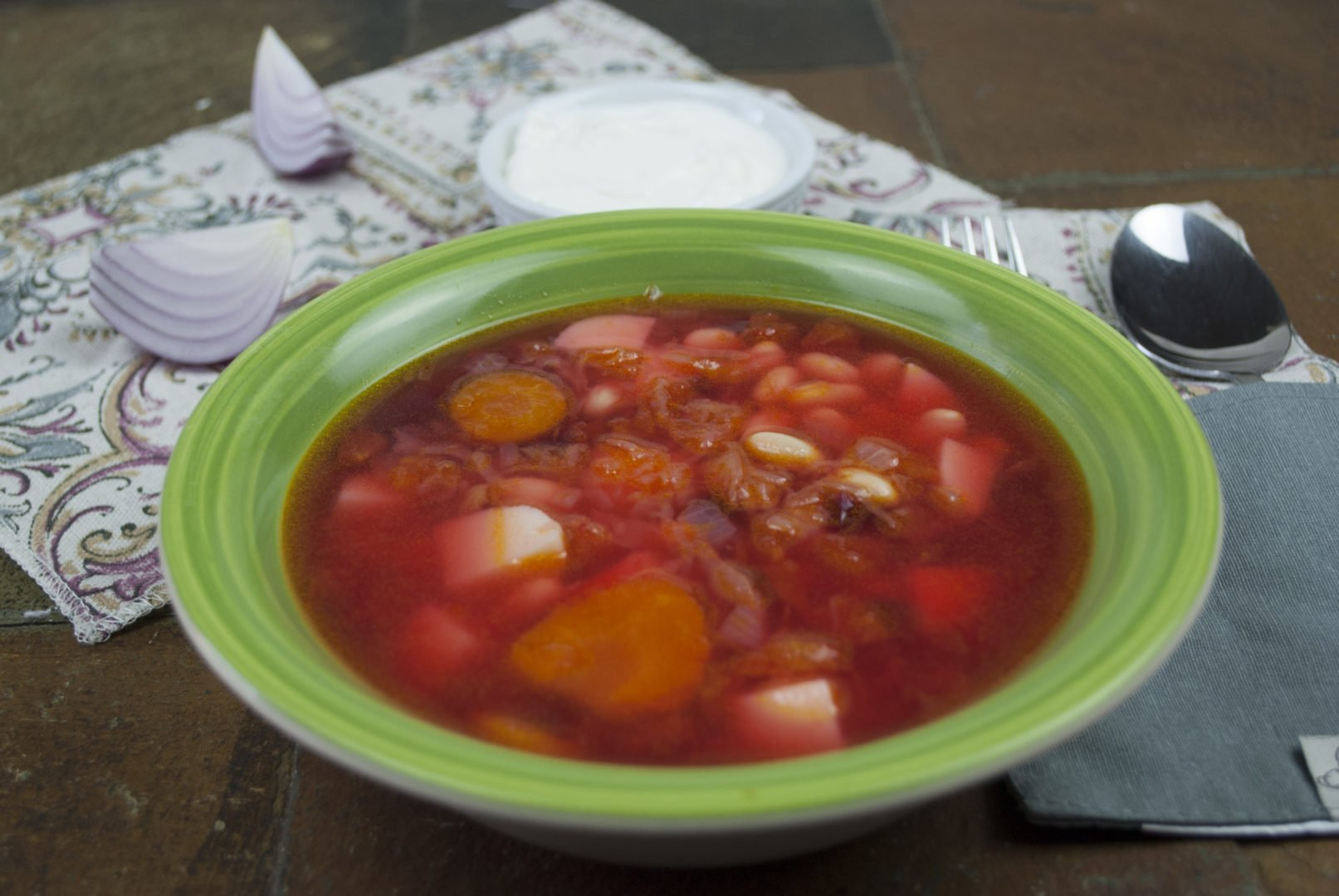 Soup - Borscht with bone-based broth - Borscht In Pressure Cooker