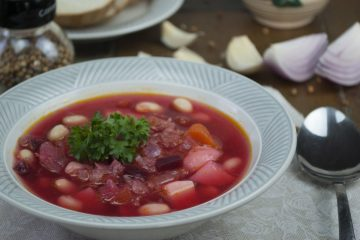 Soup - Borscht with bone-based broth - Borscht With Beans
