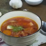 Soup - Borscht with bone-based broth - Homemade Borscht With Bone Based Broth