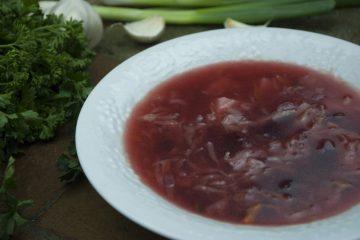 Soup - Vegetable Borscht - Beetroot Borscht