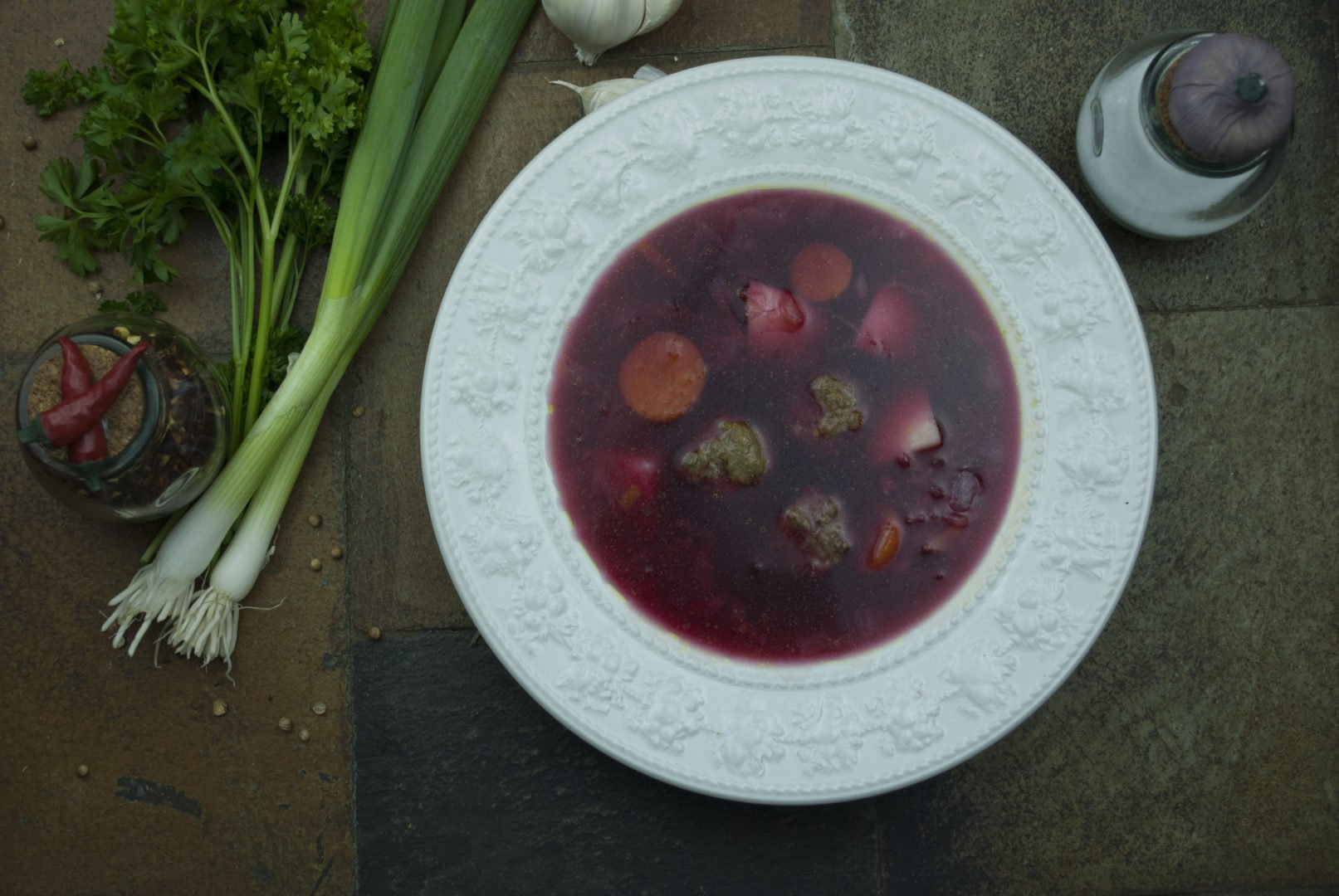 Soup - Іorscht-with-meatballs - Standard Borscht With Meatballs