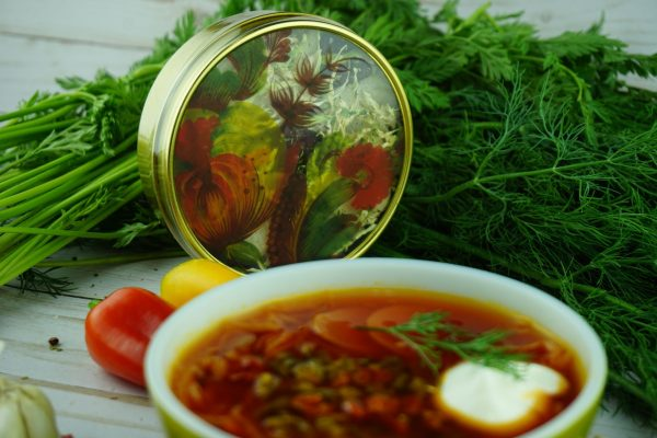 Borscht With Bell Pepper Gold Tin Jar 3 Servings
