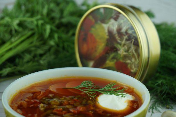 Borscht With Bell Pepper Tin Jar Gold 3 Servings