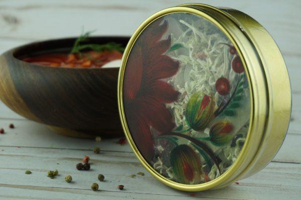 Borscht in a tin